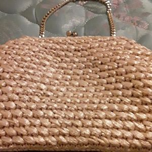 Carribean made straw purse vintage